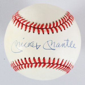Mickey Mantle Signed Baseball Yankees - COA JSA
