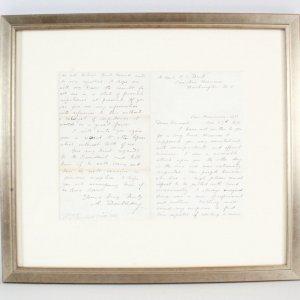 Abner Doubleday Signed Handwritten Letter - COA JSA