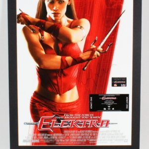 Jennifer Garner Signed Poster Display Elektra - COA JSA