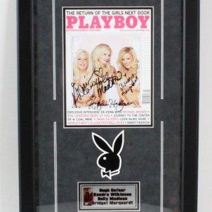 Hugh Hefner Signed Playboy Magazine Girls Next Door - COA JSA