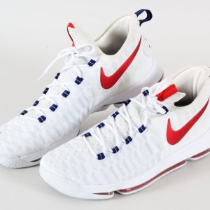Kevin Durant Game Used Shoes 2016 Olympic Team USA COA Provenance Security Guard