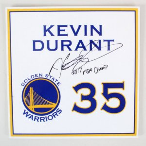 Kevin Durant 2017 Signed Locker Room Nameplate