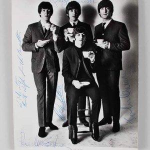 1965 Beatles Signed Photo John Lennon, Paul McCartney, George Harrison & Ringo Starr Meet Elvis Presley (Provenance Letter) JSA Full LOA