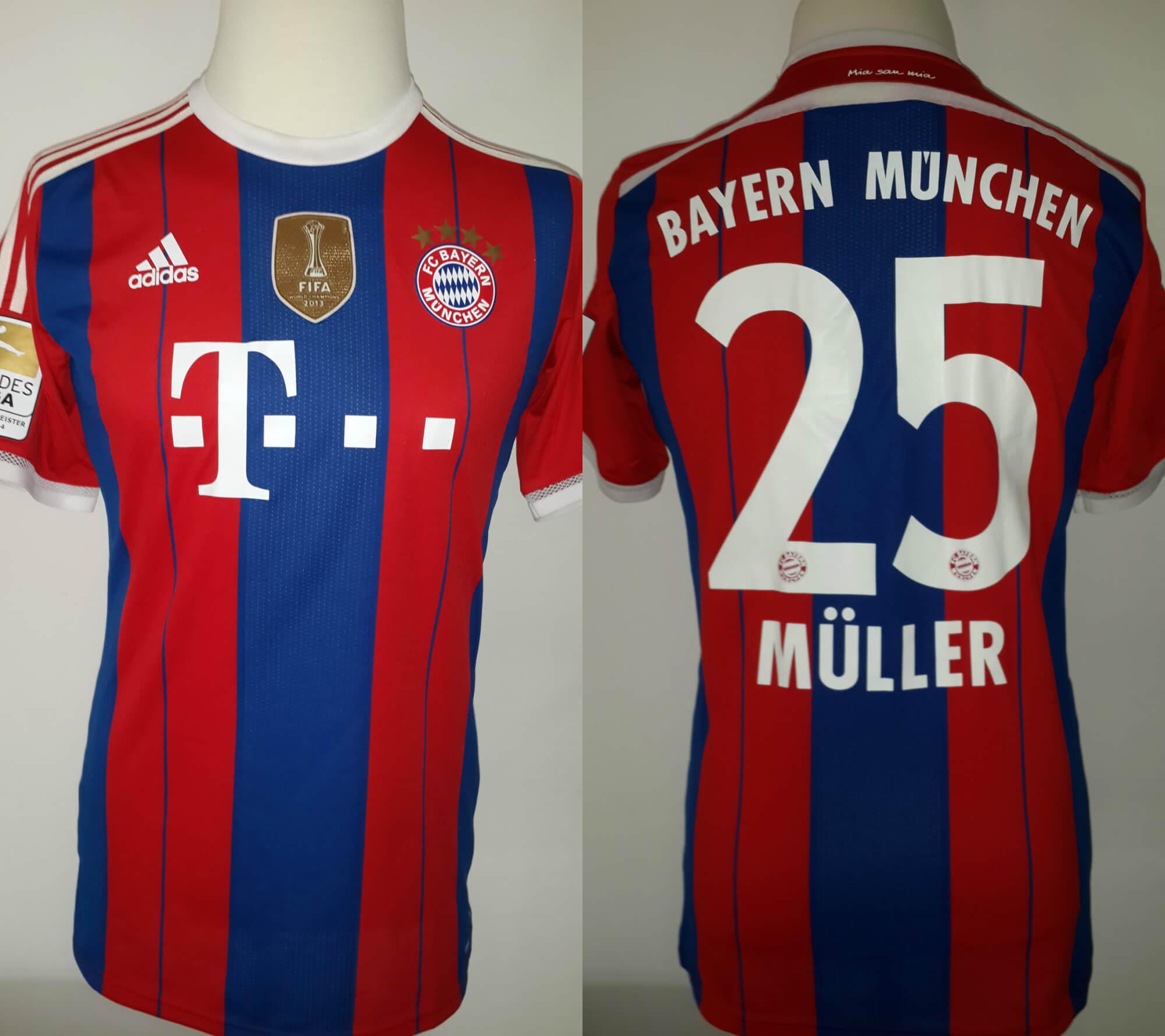timeless design 5dddd 6db8a Thomas Müller Game-Used #25 FC Bayern Munich Home Shirt 2014/15 German  Bundesliga Season