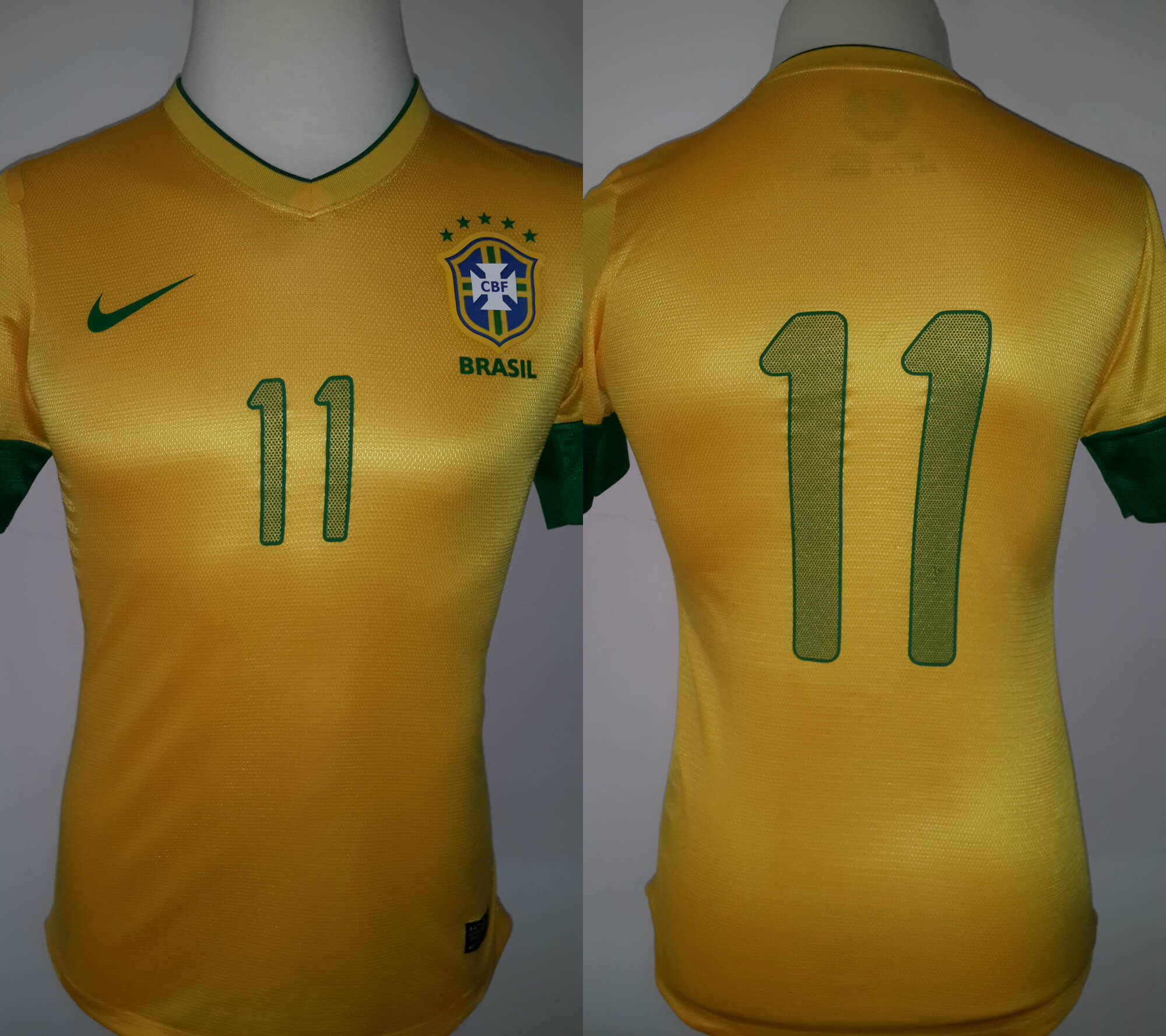 e0923f528c0 Neymar Game-Used & Unwashed #11 Brazil National Team Home Shirt. Brazil v  USA (4-1). Neymar Scored a Goal and Assisted for Two | Memorabilia Expert