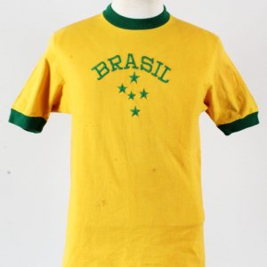 Brazil #5 Falcão Game Worn Jersey Olympic Games 1972 - COA 100% Authentic Team & Provenance LOA