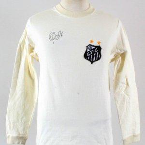 1972 Santos Team #10 Pele Game Worn Jersey Signed COA JSA, 100% Authentic Team & Provenance LOA