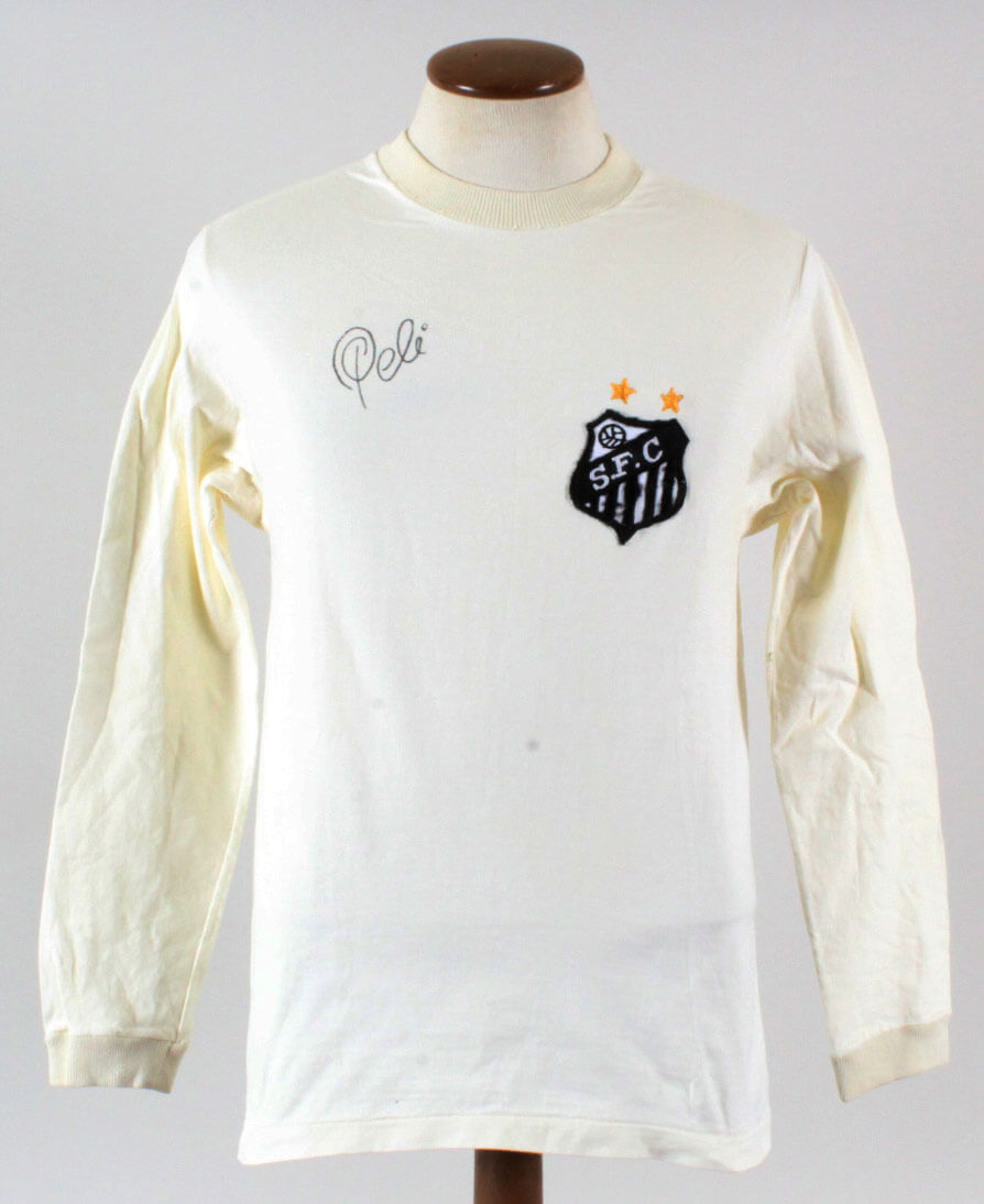 b1d2cdfd15d 1972 Santos Team  10 Pele Game Worn Jersey Signed COA JSA