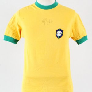 1970 Brazil National Team #10 Pele Game Worn Jersey Signed COA JSA, 100% Authentic Team & Provenance LOA