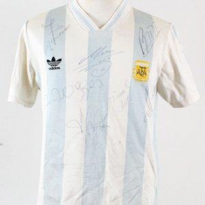 1993 Argentina National Team #10 Maradona Game Worn Jersey Fully Signed COA JSA, 100% Authentic Team & Provenance LOA