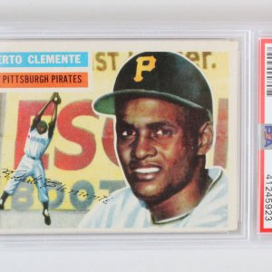 1956 Topps Roberto Clemente Graded Card #33 - PSA EX 5