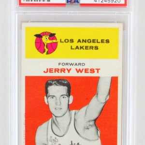 1961 Fleer Jerry West Graded RC Rookie Card #43 - PSA EX-MT 6