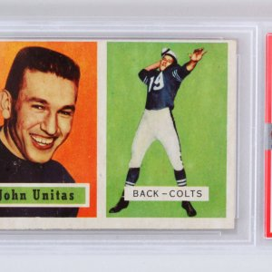 1957 Topps Johnny Unitas Graded RC Rookie Card #138 - PSA