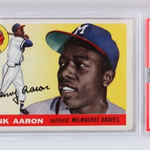 1955 Topps Hank Aaron Graded Card #47 - PSA