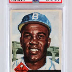 1953 Topps Jackie Robinson Graded Card #1 - PSA