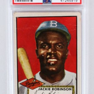 1952 Topps Jackie Robinson Graded Card #312 - PSA