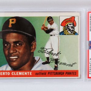 1955 Topps Roberto Clemente Graded Card Rookie RC #164 - PSA