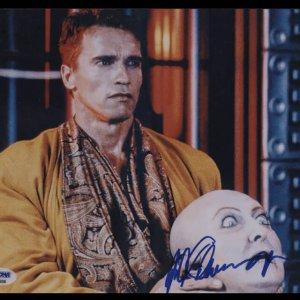 Arnold Schwarzenegger autographs 8x10. PSA DNA