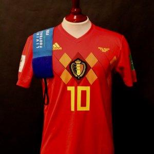 Eden Hazard Game-Used #10 Belgium Shirt & Armband.  2018 FIFA World Cup.