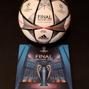 2016 UEFA Champions League Final Game-Used Ball & Programme.  Real Madrid v Atletico Madrid