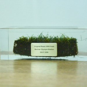2006 FIFA World Cup Final Sealed Game-Used Pitch / Grass.  Olympic Stadium, Berlin.