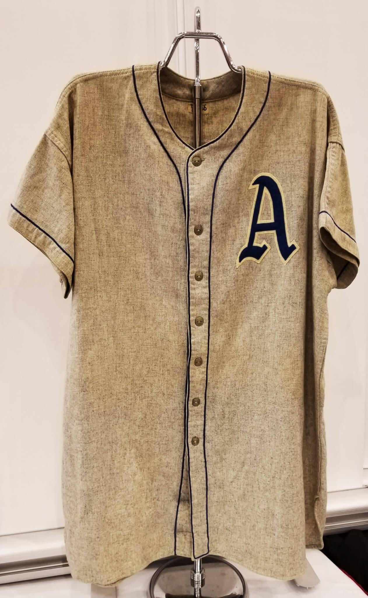 1948 Rudy York Game-Worn Jersey Flannel Philadelphia A s COA 100% Authentic  Team 59bd93268f4