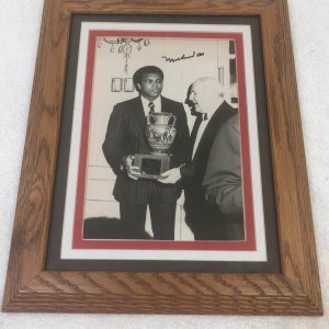 Muhammad Ali Signed 1970's Original Wire Photo Framed JSA