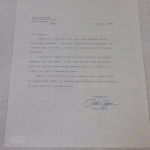 Pete Rose Cincinnati Reds Vintage Signed Typed Letter JSA