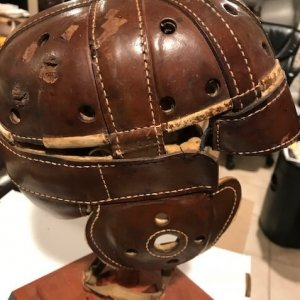 Football Helmet Circa 1920-1930 D&M