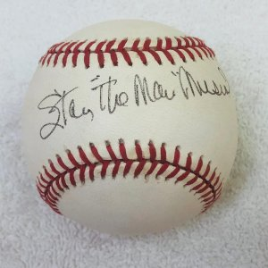 "Stan ""The Man"" Musial Signed Inscribed Signed Baseball JSA"