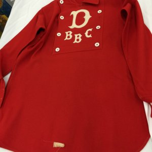 1880's to 1890s Baseball Bib Style Fireman BBC Jersey Red Shirt