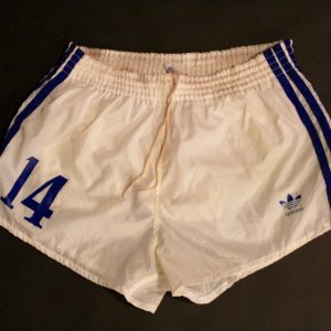 Johan Cruyff Game-Used #14 Los Angeles Aztecs NASL Shorts.  Circa 1979.