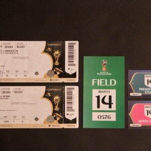 2018 FIFA World Cup Russia Ticket and Field Passes.