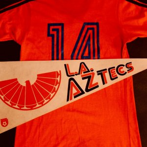 Johan Cruyff Game-Used #14 Los Angeles Aztecs Practice Shirt.  1979 NASL.
