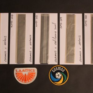 NY Cosmos NASL Original Photograph Negatives & Patches.  Beckenbauer, Chaniglia, Alberto, Etc.