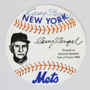 Casey Stengel Signed Card Mets - COA JSA