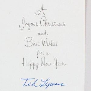 Ted Lyons Signed Card White Sox - COA JSA