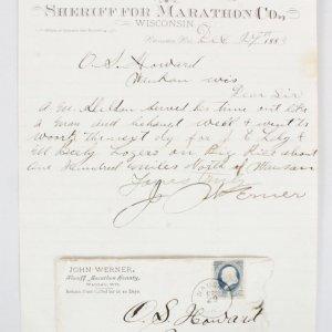 John Werner Signed Handwritten Letter - COA 100% Authentic Team