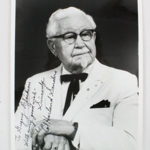 Colonel Sanders Signed Photo KFC - COA JSA