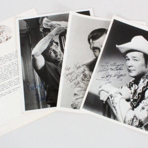 Roy Rogers Signed Photo w/ 2 Other TV Stars Lot - COA JSA