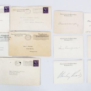 US Supreme Court Justices Signed Lot (6) 1940's - Owen Roberts, etc. - COA JSA