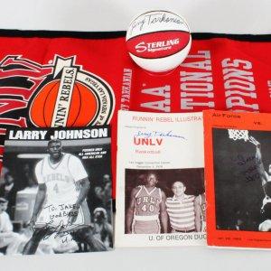 Jerry Tarkanian Signed Basketball UNLV Lot (4) - COA JSA