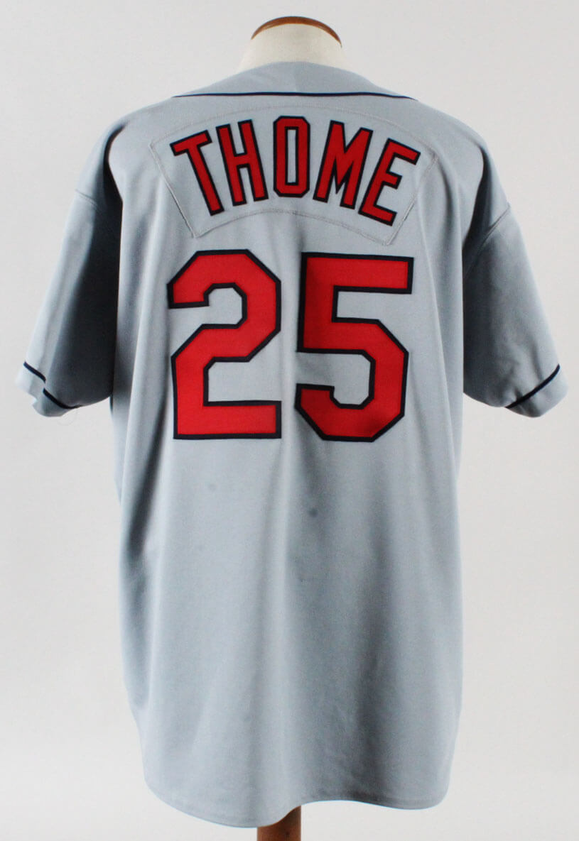 reputable site cb6ac ebb19 1994 Jim Thome Game-Worn Jersey Indians - COA 100% Authentic Team & Team  Stamping
