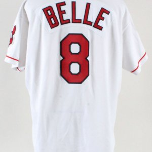 1995 Albert Belle Game-Worn Jersey Indians - COA 100% Authentic Team & Team Stamping