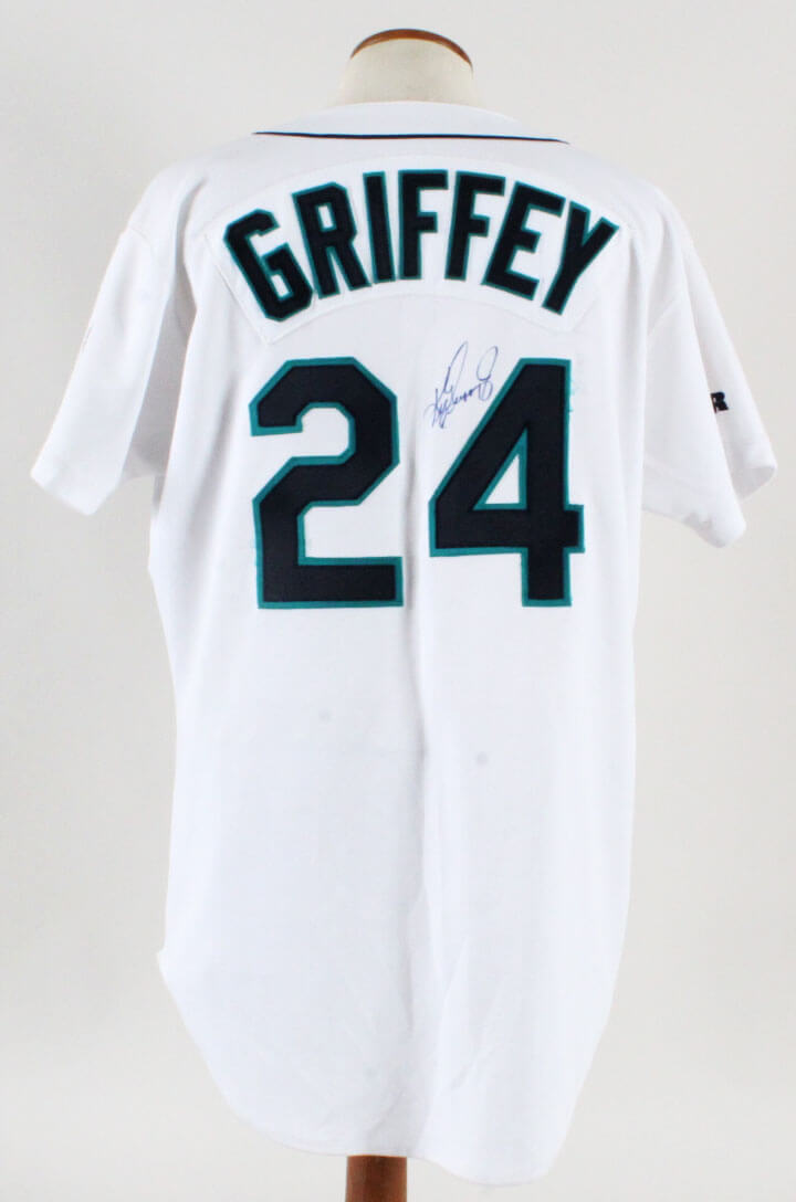a950e7e25 1998 Ken Griffey Jr. Game-Worn Jersey Signed Mariners – COA Player Letter    JSA Full LOA