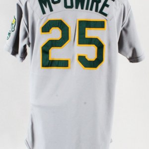 1989 Mark McGwire Game-Worn Jersey Oakland A's - COA 100% Authentic Team
