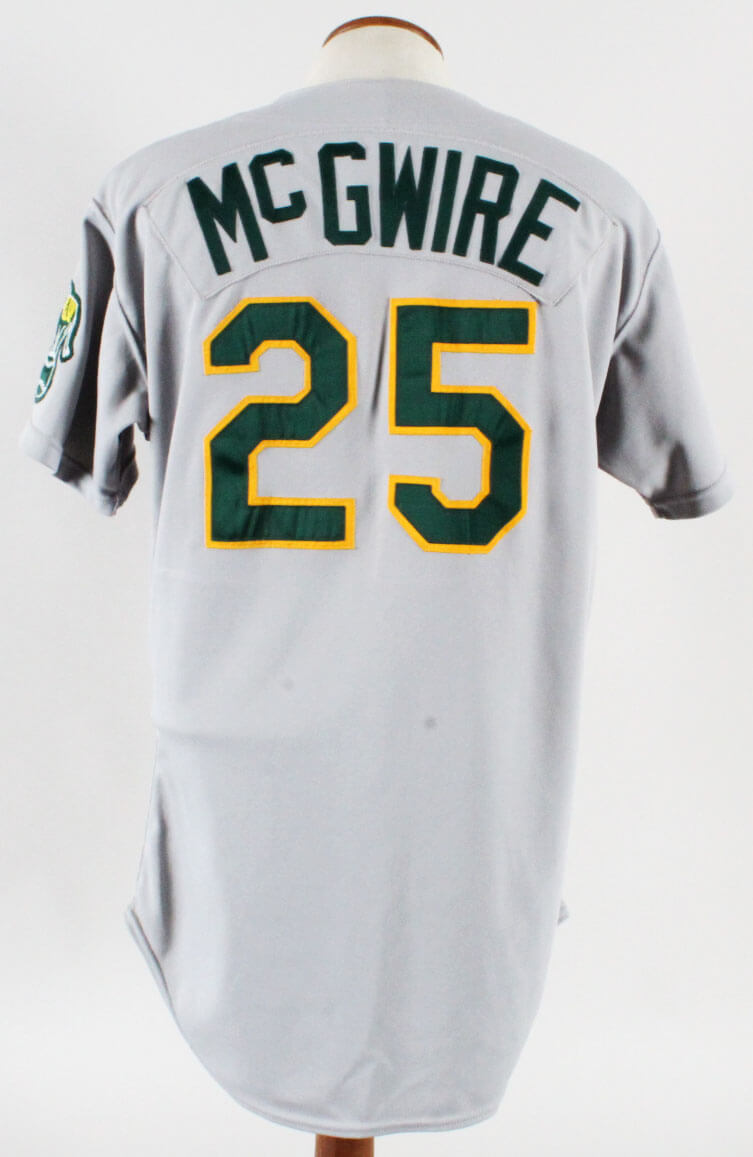 new arrivals 59bb9 708e9 1989 Mark McGwire Game-Worn Jersey Oakland A's - COA 100% Authentic Team