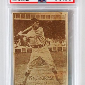 1914 E224 Texas Tommy Fred Snodgrass Card PSA Graded