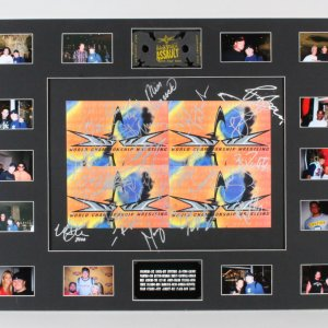 Ric Flair Signed Poster Display WCW Wrestling w/18 Others - COA JSA