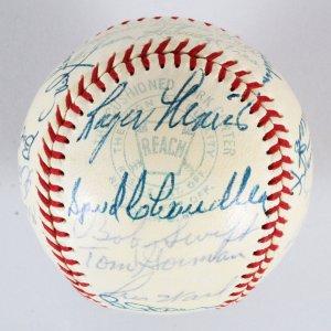 1958 KC Athletics Team-Signed Baseball Roger Maris, etc. - COA JSA